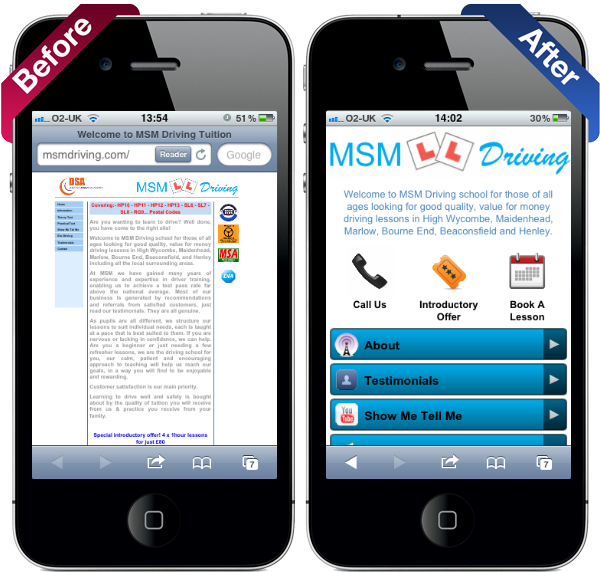 City Of London SEO Expert Before & After Mobile-Friendly Website Conversion 2